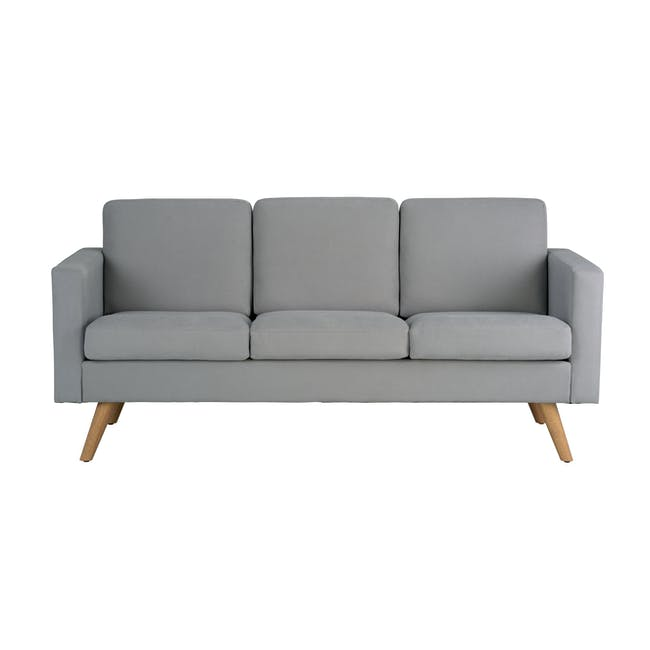 Helen 3 Seater Sofa with Helen 2 Seater Sofa - Silver Fox - 5