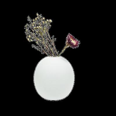 Nordic Matte Vase Large Sphere - Chalk White - Image 1