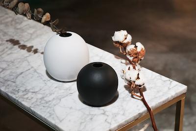 Nordic Matte Vase Large Sphere - Chalk White - Image 2