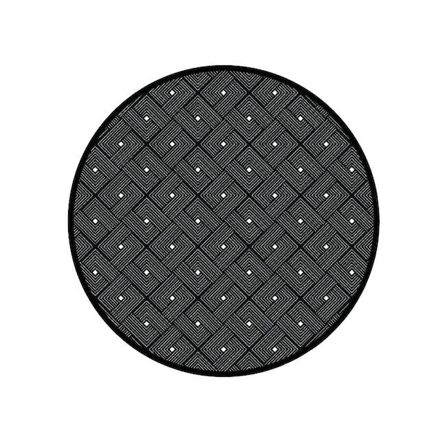 Ease Round Reversible Mat - Black - 0