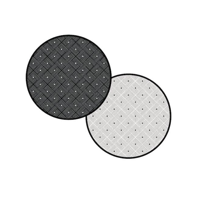 Ease Round Reversible Mat - Black - 3