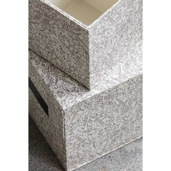 Blossom Square Storage Boxes - Brown (Set of 2) - 1