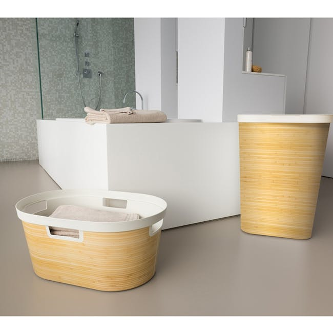 Infinity Laundry Hamper with Lid - Yellow Bamboo - 1