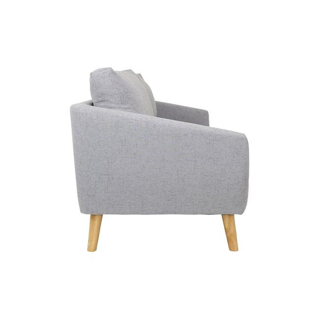 Hana 3 Seater Sofa with Hana Armchair - Light Grey - 4