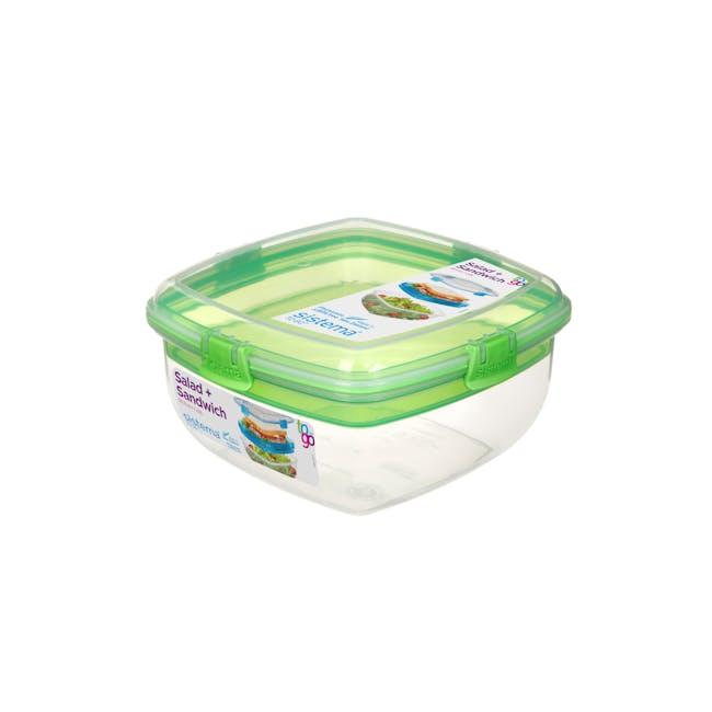 Sistema Salad N Sandwich To Go 1.63L -  Green - 0