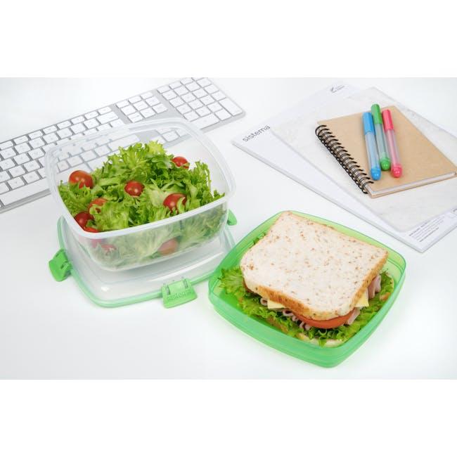 Sistema Salad N Sandwich To Go 1.63L -  Green - 1
