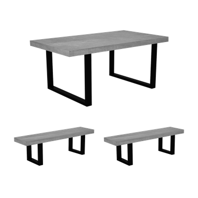 Casa Dining Table 1.8m with 2 Casa Dining Benches - Image 1