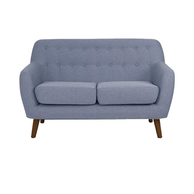 Emma 2 Seater Sofa with Emma Armchair - Dusk Blue - 1