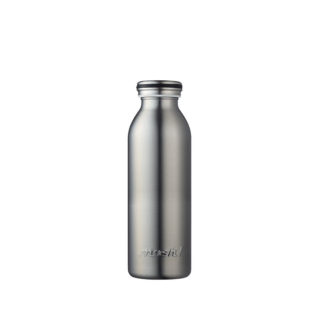 MOSH! Double-walled Stainless Steel Bottle 450ml -  Silver - 0