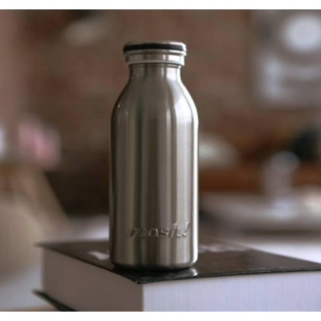 MOSH! Double-walled Stainless Steel Bottle 450ml -  Silver - 2