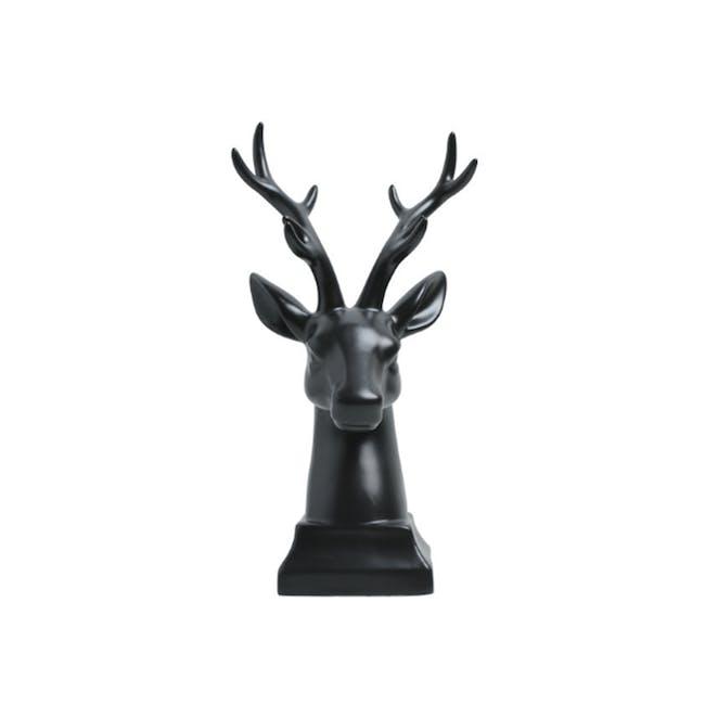 Deer Head Decor/Bookends (Set of 2) - Black - 0