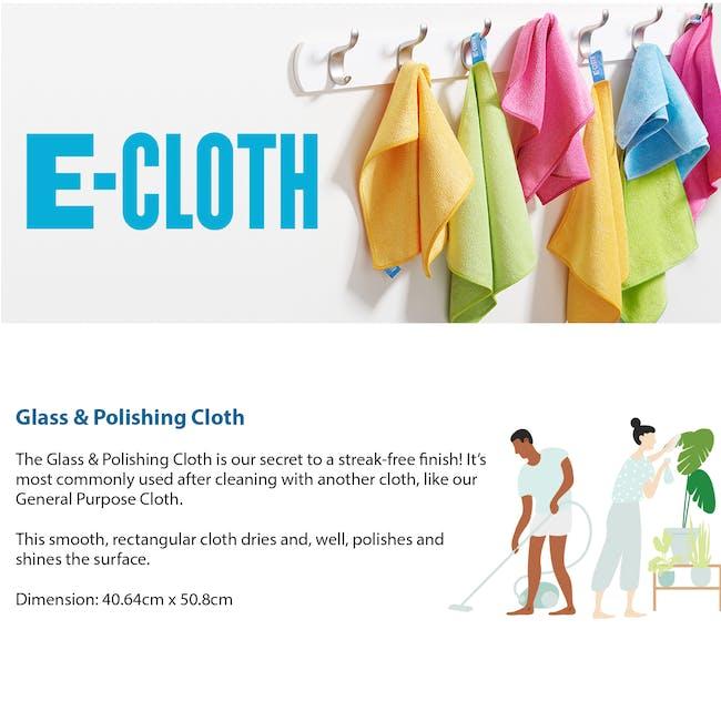e-cloth Glass and Polishing Eco Cleaning Cloth - Lime Green - 3
