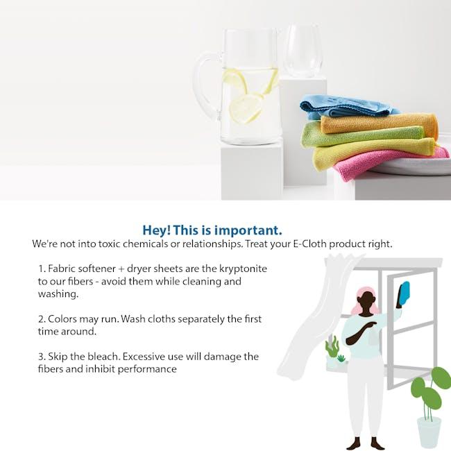 e-cloth Glass and Polishing Eco Cleaning Cloth - Lime Green - 1