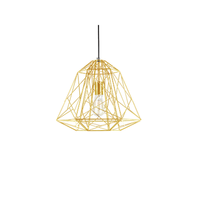 Lola Geometric Pendant Lamp - Brass - Image 2
