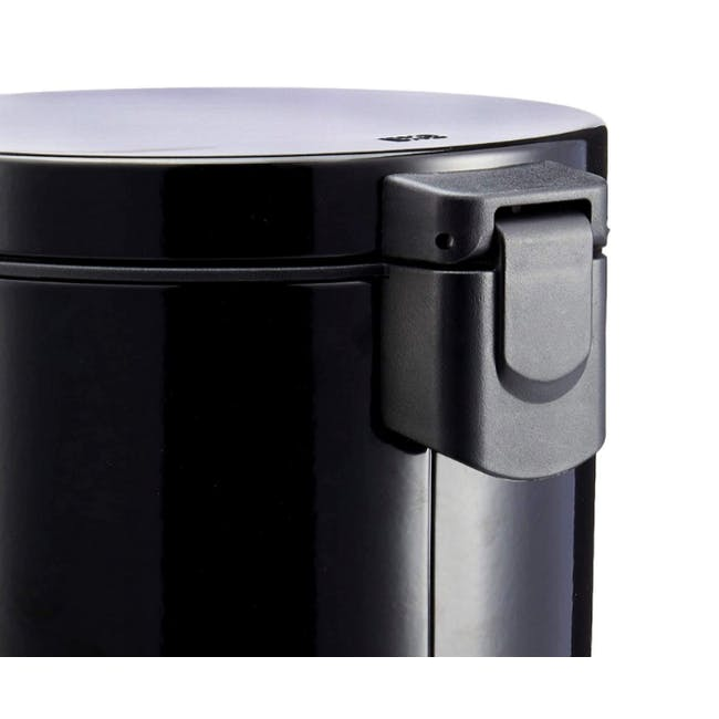 EKO Luna Stainless Steel Step Bin With Soft Closing Lid - Black (4 Sizes) - 1
