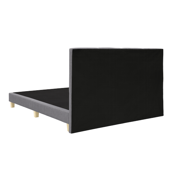 Chen Dynasty - ESSENTIALS Single Headboard Divan Bed - Smoke (Fabric)