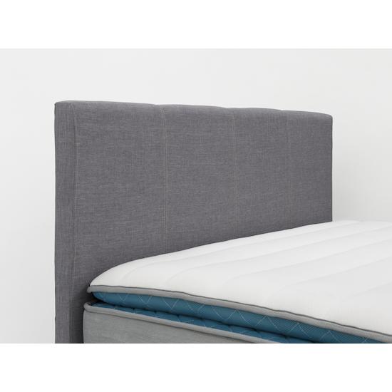 Chen Dynasty - ESSENTIALS Super Single Headboard Divan Bed - Smoke (Fabric)