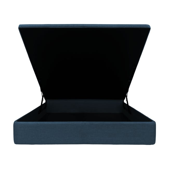 ESSENTIALS Single Headboard Storage Bed - Denim (Fabric) - 2