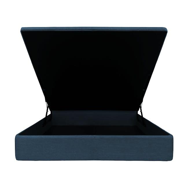 ESSENTIALS Super Single Headboard Storage Bed - Denim (Fabric) - 2