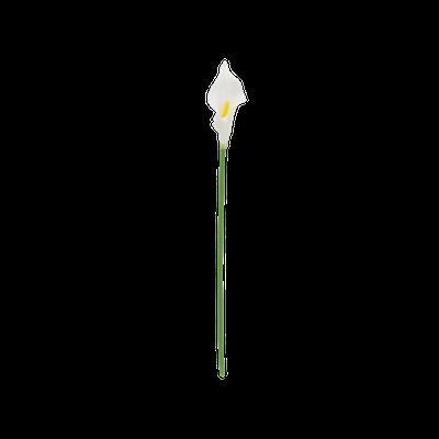 Faux Calla Stem - White - Image 1