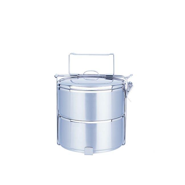 Zebra Stainless Steel Ø12cm Food Carrier (Tier Options) - 0