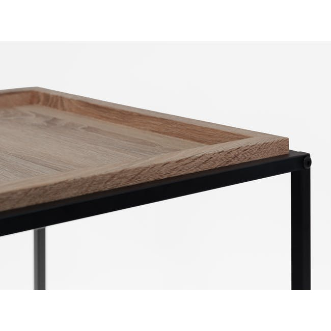 Lamont TV Console 1.2m in Grey with Dana Rectangular Coffee Table in Walnut - 9