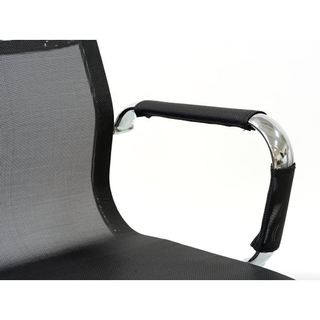 Eames Mid Back Mesh Office Chair Replica - Black - 1