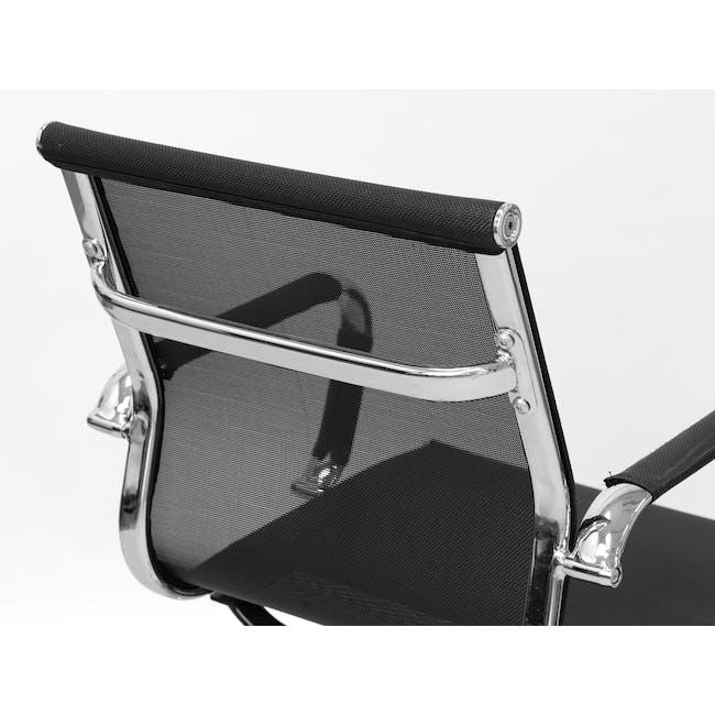 Eames Mid Back Mesh Office Chair Replica - Black - 2