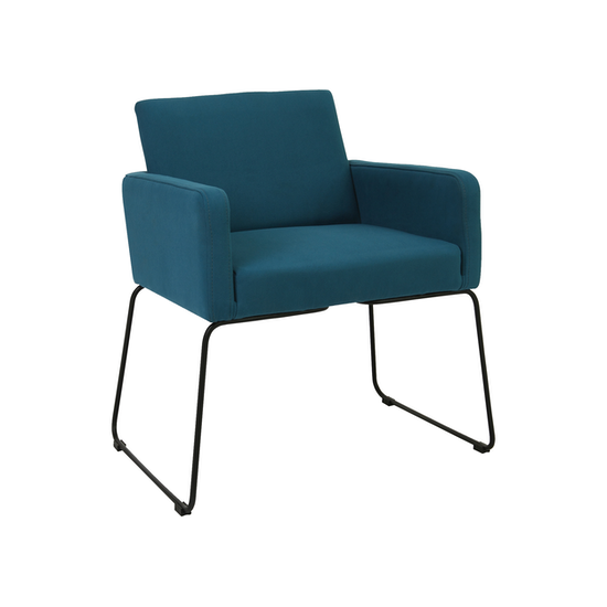 Malmo - Delma Dining Chair - Matt Black, Teal