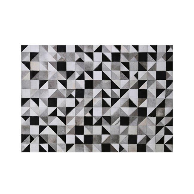Geometric Low Pile Rug 3m x 2m (Cowhide Leather) - 0
