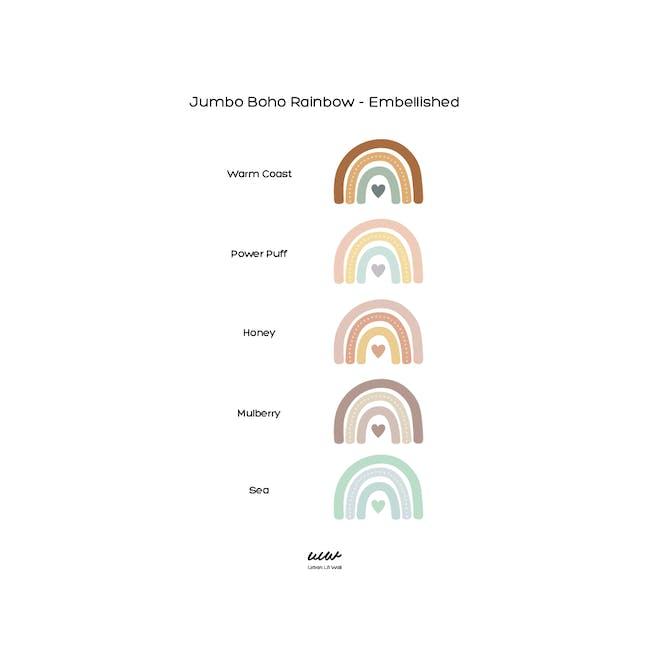 Urban Li'l Boho Jumbo Rainbow Fabric Decal Embellished - Mulberry (2 Sizes) - 1