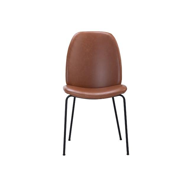 Anika Side Chair - Hazelnut (Faux Leather) - 2