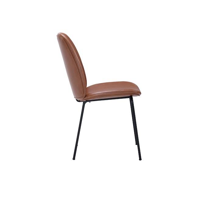 Anika Side Chair - Hazelnut (Faux Leather) - 3