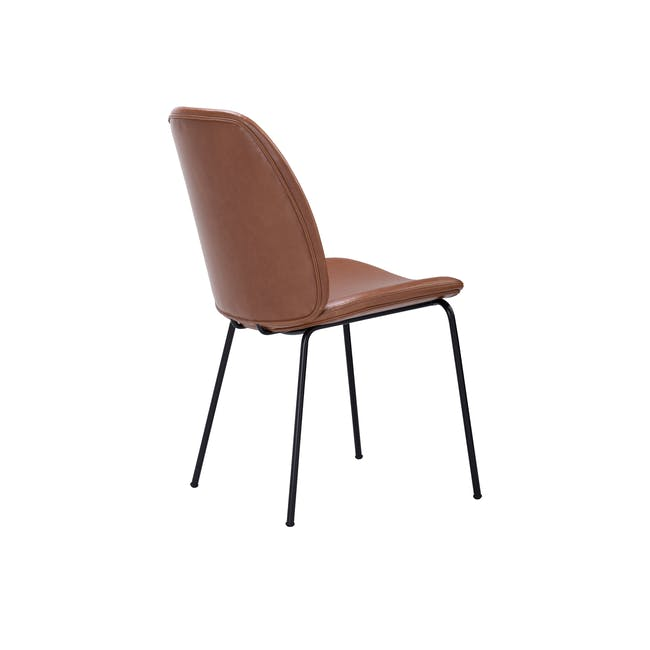 Anika Side Chair - Hazelnut (Faux Leather) - 4