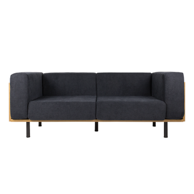 (As-is) Harvey Loveseat Space Grey - Fabric -1 - Image 1