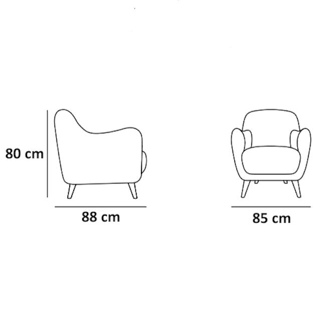 Evan 2 Seater Sofa with Evan Armchair - Slate - 7