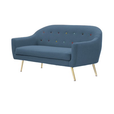 Arden Loveseat - Blue - Image 2