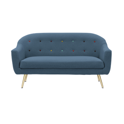 Arden Loveseat - Blue - Image 1