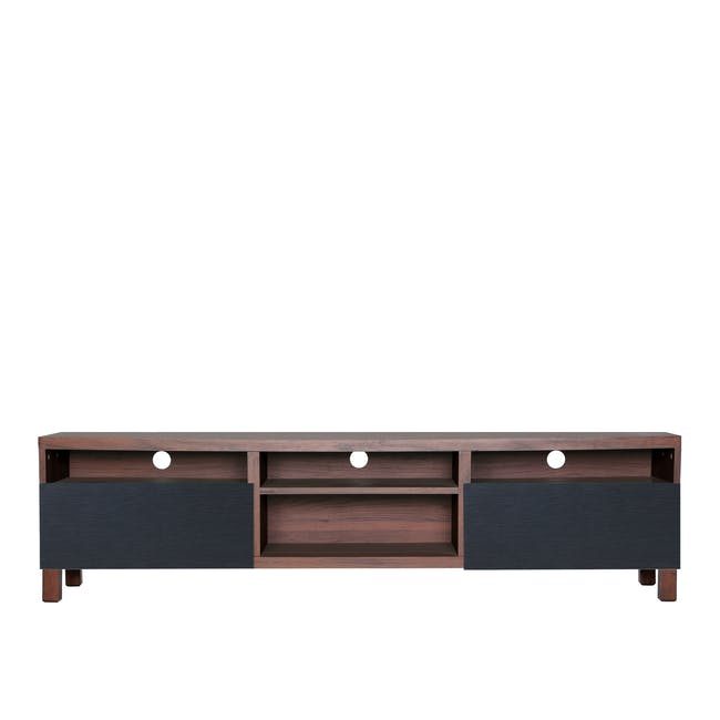 Gordon TV Console 1.8m in Walnut with Seifer Coffee Table - 1