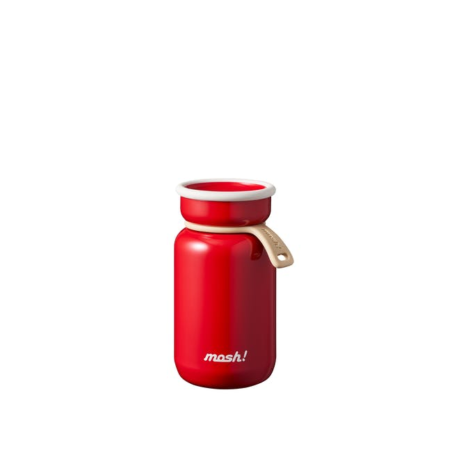 MOSH! Mini Latte Bottle 200ml - Red - 0