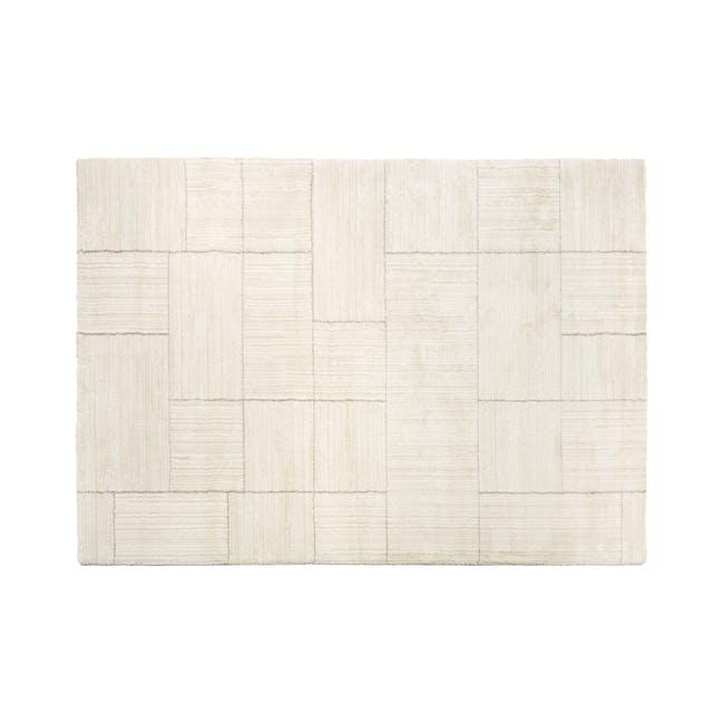 Fjord Low Pile Rug 2.9m x 2m - Ivory Squares - 0