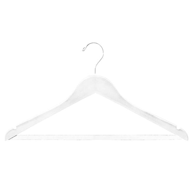 Wooden Hangers (Set of 10) - White - 2