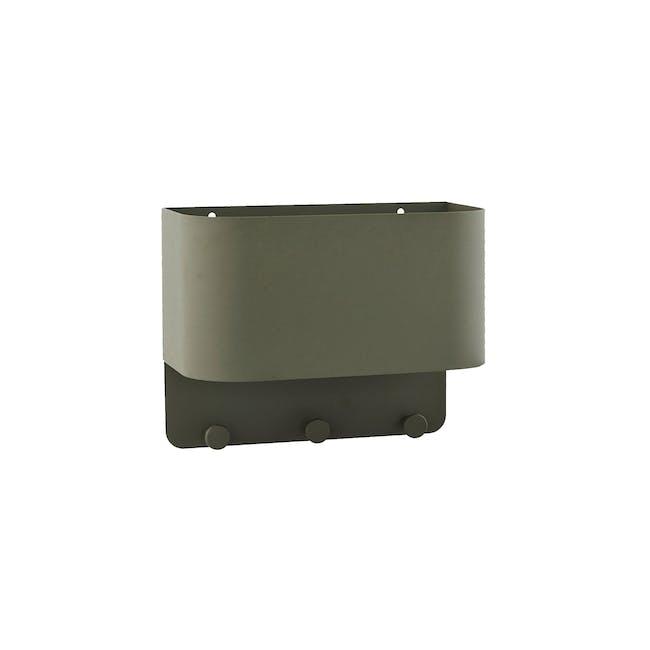 Fimosa Metal Wall Hanger - Army Green - 0