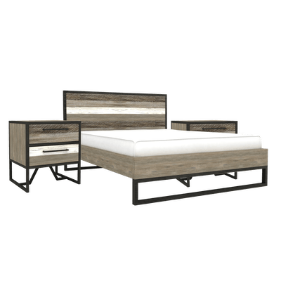 Xavier Queen Bed with 2 Xavier Bedside Tables - Image 1