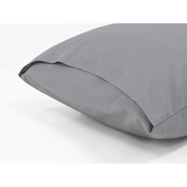 (King) Aurora Fitted Sheet 4-pc Set - Stone - 4