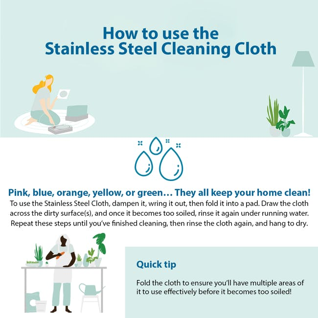 e-cloth Stainless Steel Eco Cleaning Cloth - 4