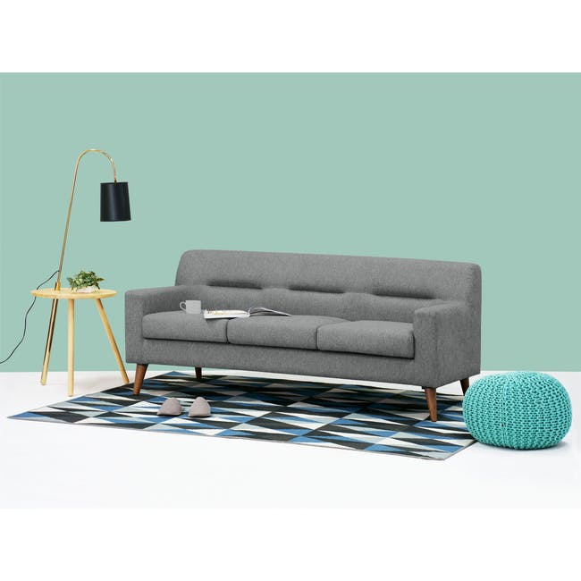 Damien 3 Seater Sofa - Heather Grey - 2