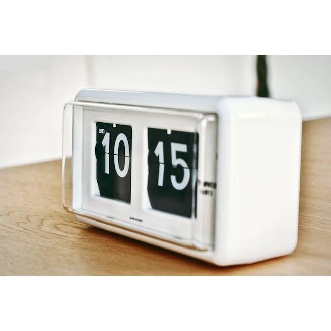 TWEMCO Table Clock - White - 3