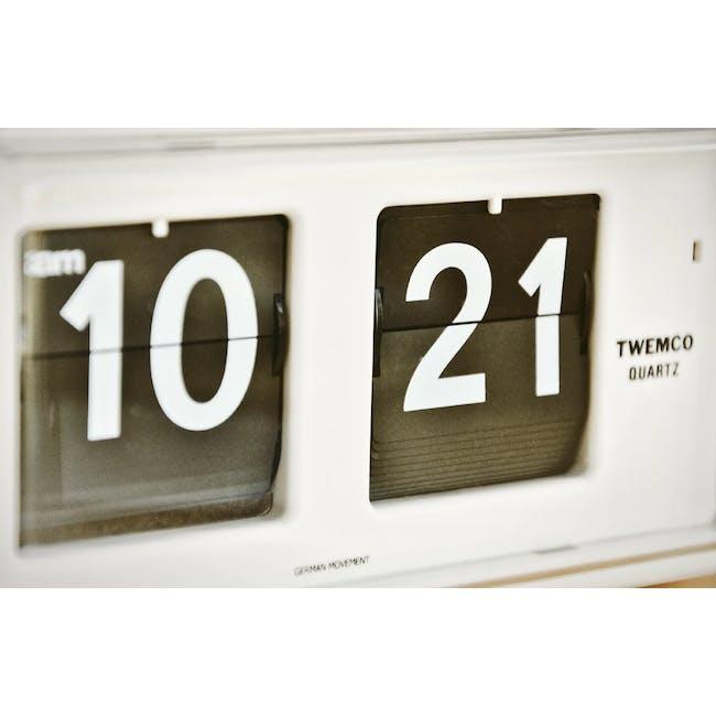 TWEMCO Table Clock - White - 2