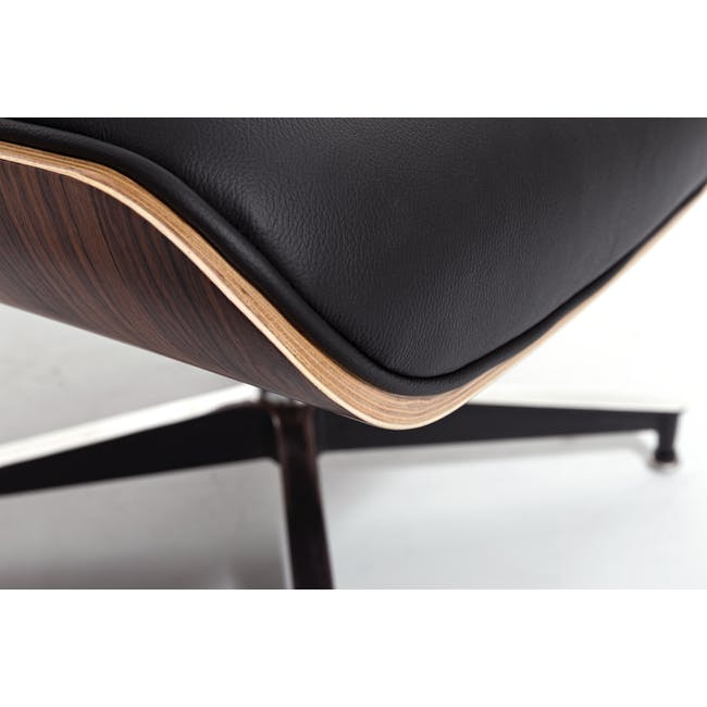 Eames Lounge Chair and Ottoman Replica - Black (Genuine Cowhide) - 8